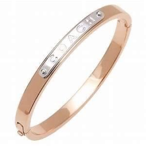 NWTCoach F54565 Hinged Bangle Rose Gold Bracelet